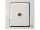品牌:西蒙 Simtone&#10名称:一位电视全屏蔽插座(5~1000MHz)(订制品)&#10型号:S55116