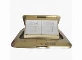 品牌:TCL-罗格朗 TCLLegrand 名称:铜面双电脑地面插座 型号:KBTFC01/2/W