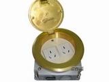 品牌:飞利富 Feilifu&#10名称:一位二极双用插座、一位二极带接地地面插座&#10型号:HTD-130LXK