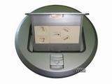 品牌:飞利富 Feilifu 名称:不锈钢圆形五孔地面插座 型号:HTD-7P