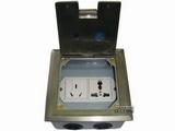 品牌:飞利富 Feilifu&#10名称:不锈钢多功能孔地面插座&#10型号:HTD-120P