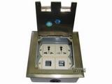 品牌:飞利富 Feilifu&#10名称:不锈钢多功能孔开启式地面插座&#10型号:HTD-146P