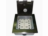 品牌:瑞博 Ruibo 名称:不锈钢开启式四位电源地面插座 型号:RDC-146B