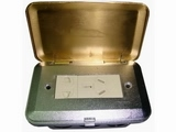 品牌:瑞博 Ruibo&#10名称:铜面两位电源地面插座&#10型号:RDC-100