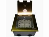 品牌:瑞博 Ruibo 名称:开启式四位电源地面插座 型号:RDC-146