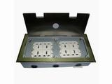品牌:瑞博 Ruibo 名称:不锈钢开启式八位电源地面插座 型号:RDC-300