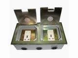 品牌:瑞博 Ruibo 名称:不锈钢双开启式双五孔电源地面插座 型号:RDC-240B