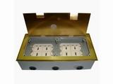 品牌:瑞博 Ruibo&#10名称:铜面开启式八位电源地面插座&#10型号:RDC-300C