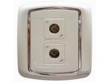 品牌:梅兰日兰 Meilan 名称:白色二位TV/FM插座 型号:L920TV.AA