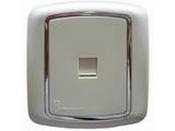 品牌:梅兰日兰 Meilan 名称:白色一位4线电话插座 型号:L800TL.AA