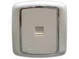 品牌:梅兰日兰 Meilan 名称:白色一位8线电脑信息插座 型号:L820TL.AA