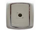 品牌:梅兰日兰 Meilan 名称:白色一位TV/FM插座 型号:L900TV.AA