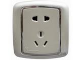 品牌:梅兰日兰 Meilan&#10名称:白色二、三极插座&#10型号:L560.AA