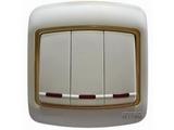 品牌:梅兰日兰 Meilan&#10名称:竖装白色边框(金色环)&#10型号:L105.AAGA