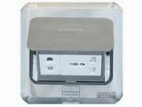 品牌:西蒙 Simtone&#10名称:不锈钢多功能五孔地面插座&#10型号:TD120-F5H