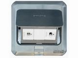 品牌:西蒙 Simtone&#10名称:不锈钢面电脑+电话地面插座&#10型号:TD120-F19H