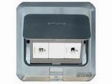 品牌:西蒙 Simtone&#10名称:不锈钢两位电脑地面插座&#10型号:TD120-F23H