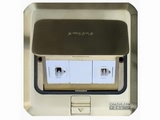 品牌:西蒙 Simtone&#10名称:铜面两位电脑地面插座&#10型号:TD120-F23