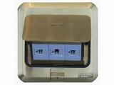 品牌:西蒙 Simtone 名称:铜面两位电脑+电话地面插座 型号:TD120-F26