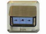 品牌:西蒙 Simtone 名称:铜面两位电话+电脑地面插座 型号:TD120-F27