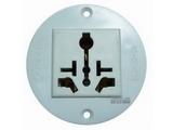 品牌:国产 Guochan 名称:10A万用插座(圆形) 型号:STQ-110-09