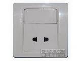 品牌:西蒙 Simtone&#10名称:两孔插座带开关&#10型号:C51076B