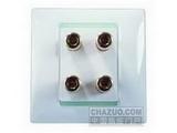 品牌:西蒙 Simtone&#10名称:两位音箱插座&#10型号:59402