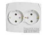 品牌:松瑞 Songrui&#10名称:二位欧式插座&#10型号:SR-2212