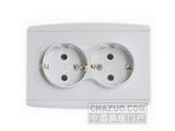 品牌:松瑞 Songrui&#10名称:二位欧标插座&#10型号:SR-21112