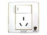 品牌:世耐尔 SINEL&#10名称:带开关16A三极插座&#10型号:S600/15/16S