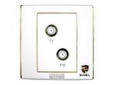 品牌:世耐尔 SINEL 名称:一位宽频电视一位FM插座 型号:S600/WTV/FM