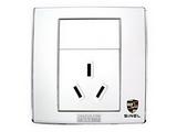 品牌:世耐尔 SINEL&#10名称:10A一位三极插座&#10型号:S600/426/10S