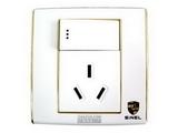 品牌:世耐尔 SINEL&#10名称:带开关10A三极插座&#10型号:S600/15/10S