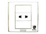 品牌:世耐尔 SINEL&#10名称:一位二极扁圆插座&#10型号:S600/426U