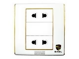 品牌:世耐尔 SINEL&#10名称:二位二极扁圆插座&#10型号:S600/426U2