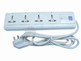 品牌:同方·同福 TOF&#10名称:4控四联万用插座 2.5米&#10型号:TF-604/2.5m