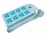 品牌:慈达 strtec&#10名称:总控8联1.5米插座&#10型号:XF-801