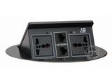 品牌:奥盛 Aosens&#10名称:弹起式椭圆形桌面插座&#10型号:JS-222C