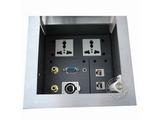 品牌:龙鑫 Longxin&#10名称:开启式桌面插座&#10型号:ZH105