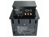 品牌:龙鑫 Longxin&#10名称:升降式桌面插座&#10型号:ZH300