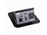 品牌:奥威亚 AVA&#10名称:弹起式圆角斜面桌面插座&#10型号:CZ-JXH-103