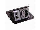品牌:奥威亚 AVA&#10名称:弹起式圆角斜面桌面插座&#10型号:CZ-JXH-104EU