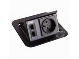 品牌:奥威亚 AVA&#10名称:弹起式圆角斜面桌面插座&#10型号:CZ-JXH-104FR