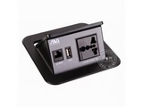 品牌:奥威亚 AVA&#10名称:弹起式圆角斜面桌面插座&#10型号:CZ-JXH-106
