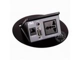 品牌:奥威亚 AVA&#10名称:弹起式圆形斜面桌面插座&#10型号:CZ-JXH-105圆形