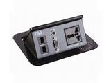 品牌:奥威亚 AVA 名称:弹起式长方形斜面桌面插座 型号:CZ-JXH-301A