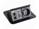 品牌:奥威亚 AVA&#10名称:弹起式长方形斜面桌面插座&#10型号:CZ-JXH-301EU
