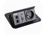 品牌:奥威亚 AVA&#10名称:弹起式长方形斜面桌面插座&#10型号:CZ-JXH-301FR