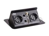 品牌:奥威亚 AVA 名称:弹起式长方形斜面桌面插座 型号:CZ-JXH-401EU