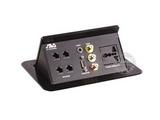 品牌:奥威亚 AVA 名称:弹起式长方形斜面桌面插座 型号:CZ-JXH-403